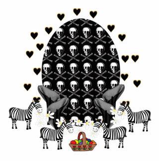 Huevo de Pascua de los cráneos y de las cebras Fotoescultura Vertical