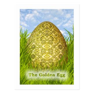 Huevo de Pascua de oro - metálico grabada en Postal