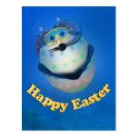 Huevo de Pascua del buceo con escafandra Downunder Postal