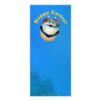 Huevo de Pascua del buceo con escafandra Downunder Tarjetas Publicitarias Personalizadas