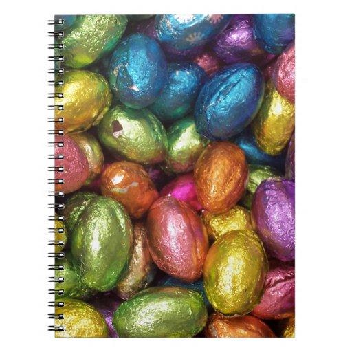 Huevo de Pascua del chocolate Libro De Apuntes