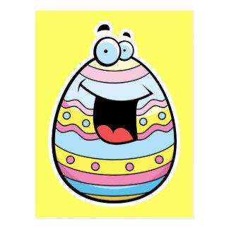 Huevo de Pascua del dibujo animado Postal