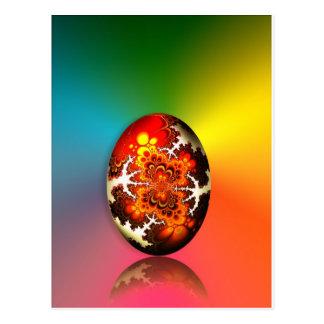 Huevo de Pascua del diseño del fractal Postales