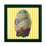 Huevo de Pascua del vintage Joyero Cuadrado Grande