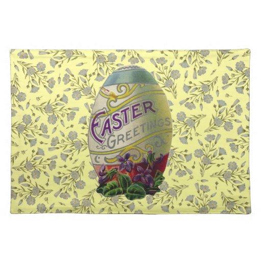 Huevo de Pascua del vintage Mantel Individual