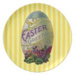 Huevo de Pascua del vintage Plato Para Fiesta