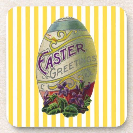 Huevo de Pascua del vintage Posavasos De Bebidas