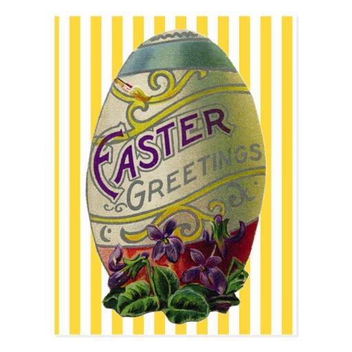Huevo de Pascua del vintage Tarjeta Postal
