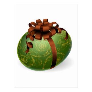 Huevo de Pascua elegante con los modelos de oro Tarjetas Postales