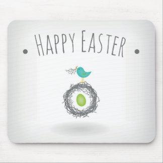 Huevo de Pascua en tarjeta de felicitación de la j Tapetes De Ratón