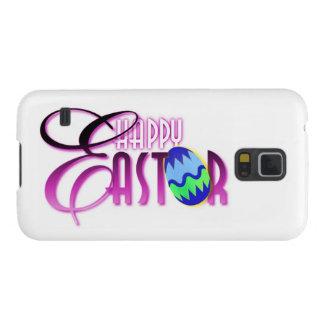 Huevo de Pascua feliz púrpura Fundas De Galaxy S5