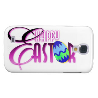 Huevo de Pascua feliz púrpura