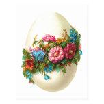 Huevo de Pascua floral Tarjeta Postal