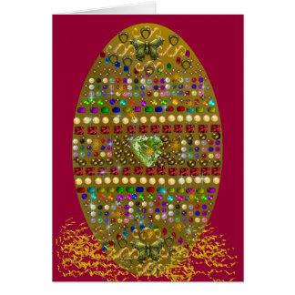 Huevo de Pascua Jeweled Tarjeta De Felicitación