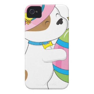 Huevo de Pascua lindo del perrito iPhone 4 Case-Mate Funda