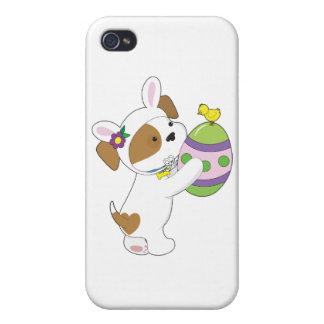 Huevo de Pascua lindo del perrito iPhone 4 Cárcasa