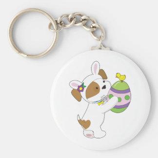 Huevo de Pascua lindo del perrito Llavero Redondo Tipo Pin