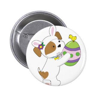Huevo de Pascua lindo del perrito Pin Redondo De 2 Pulgadas