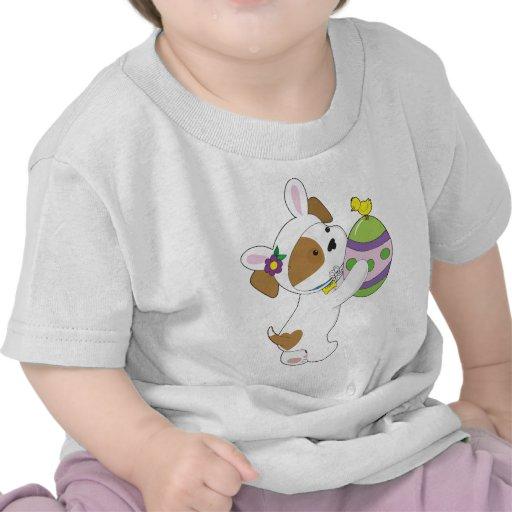 Huevo de Pascua lindo del perrito Camisetas