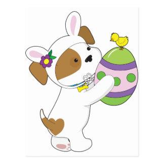 Huevo de Pascua lindo del perrito Tarjetas Postales