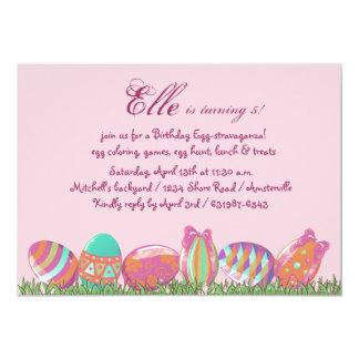 Huevo de Pascua marzo, fiesta de cumpleaños del Invitación 12,7 X 17,8 Cm