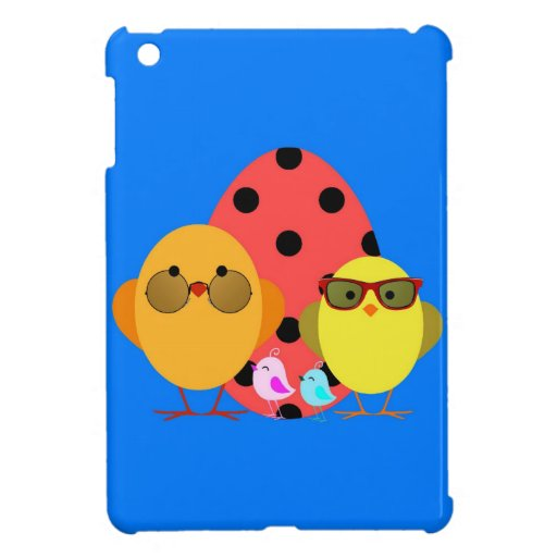 ¡Huevo de Pascua o de la primavera y familia del p iPad Mini Cárcasa