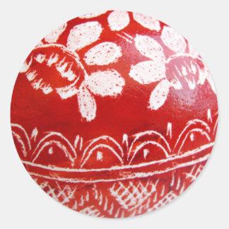 Huevo de Pascua Etiquetas Redondas