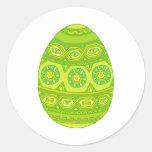 Huevo de Pascua Pegatinas Redondas