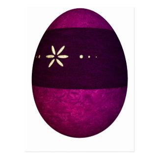 Huevo de Pascua pintado de la banda Postal