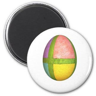 Huevo de Pascua pintado de los cuadrantes Imán Redondo 5 Cm