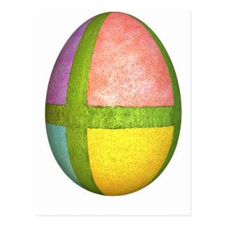 Huevo de Pascua pintado de los cuadrantes Postal