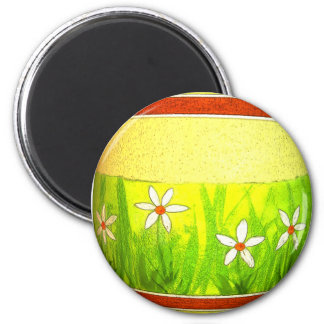 Huevo de Pascua pintado del jardín Imán De Nevera
