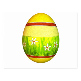 Huevo de Pascua pintado del jardín Postal