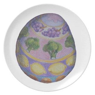 Huevo de Pascua Plato