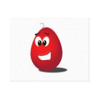 Huevo de Pascua rojo Lienzo Envuelto Para Galerias
