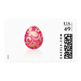 Huevo de Pascua rosado Estampillas