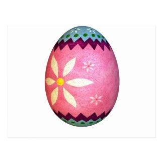 Huevo de Pascua teñido rosa de la margarita Postal
