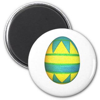 Huevo de Pascua teñido verde y amarillo del triáng Imán De Frigorífico