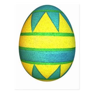 Huevo de Pascua teñido verde y amarillo del triáng Postal