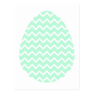 Huevo de Pascua verde en colores pastel del zigzag Postales