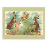 Huevo de Pascua verde hermoso Tarjetas Postales