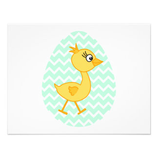 Huevo de Pascua y polluelo lindo Invitación
