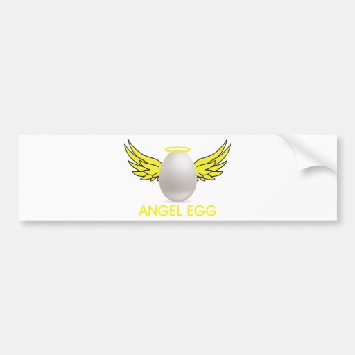 huevo del angell etiqueta de parachoque