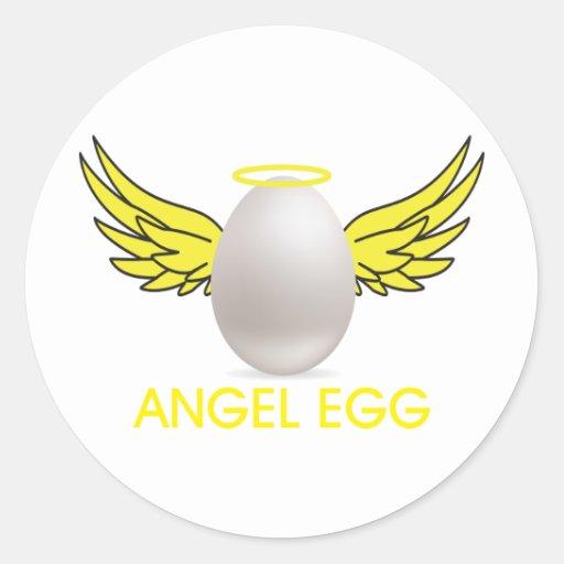 huevo del angell pegatina redonda