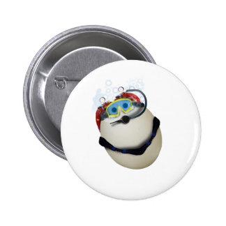 Huevo del EQUIPO DE SUBMARINISMO - empresa Pin Redondo De 2 Pulgadas