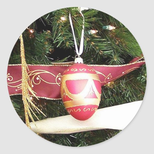 Huevo del navidad pegatina redonda