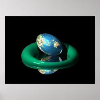 Huevo del planeta impresiones
