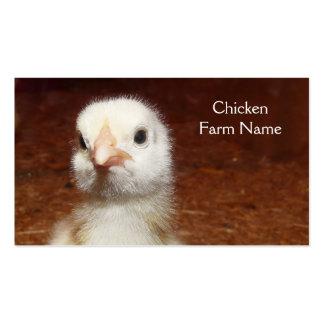 Huevo del pollo del bebé o granja de pollo plantilla de tarjeta de negocio