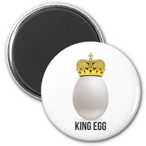 huevo del rey imán redondo 5 cm