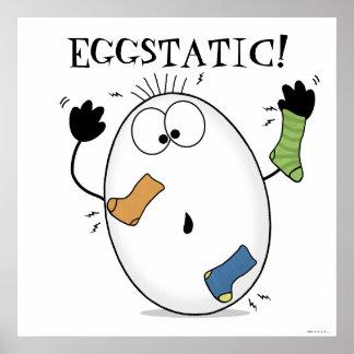 Huevo Eggstatic-Extático Póster